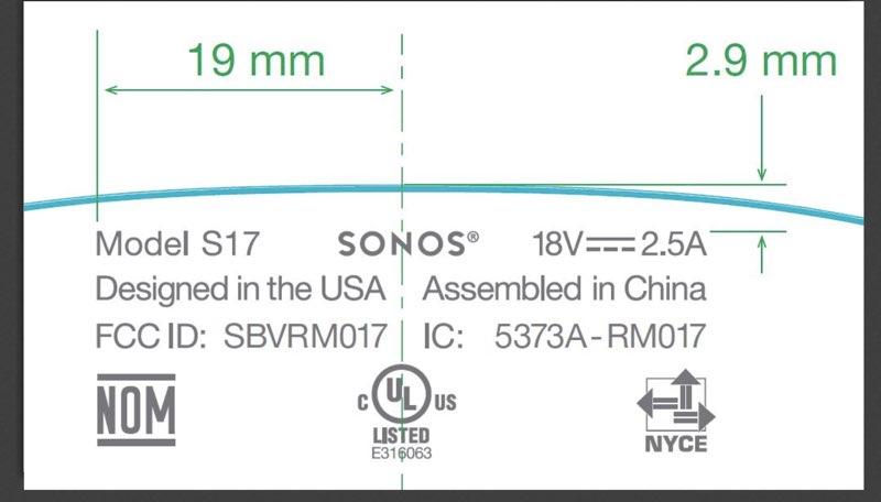 Sonos FCC-melding