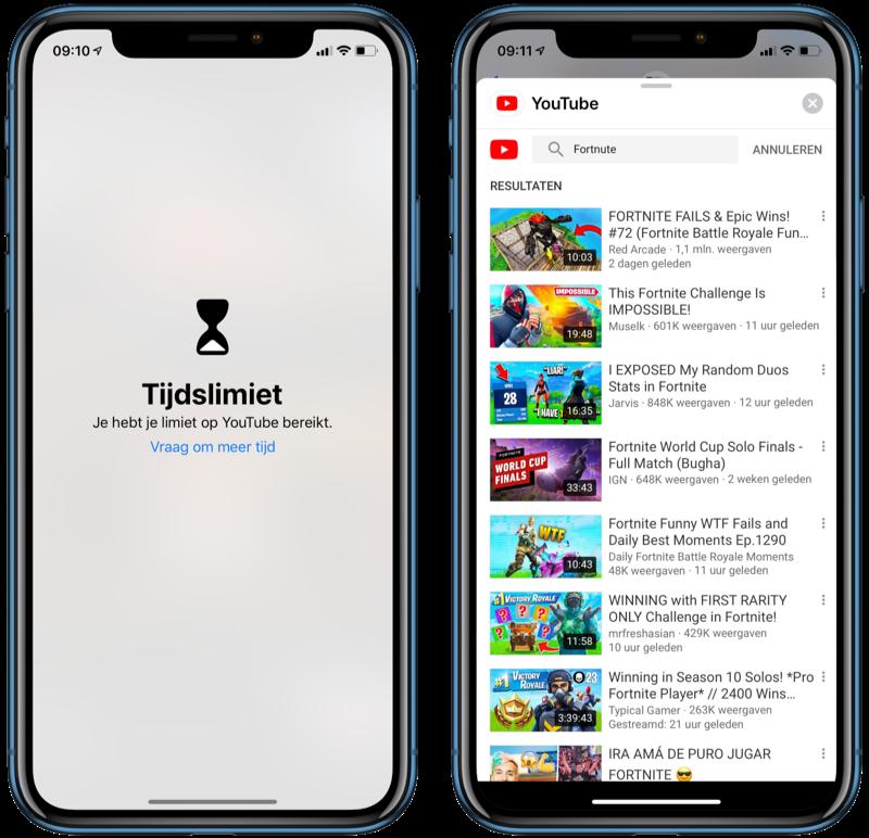 YouTube-limiet omzeilen met iMessage.