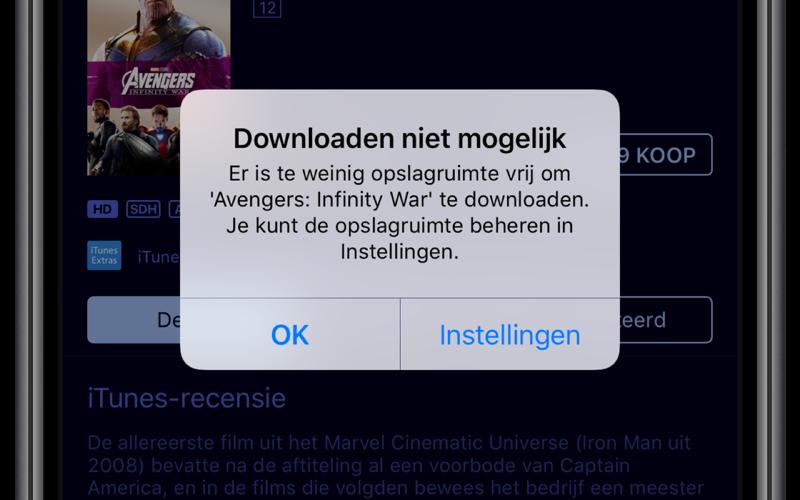 Film-truc bij iPhone-opslag.