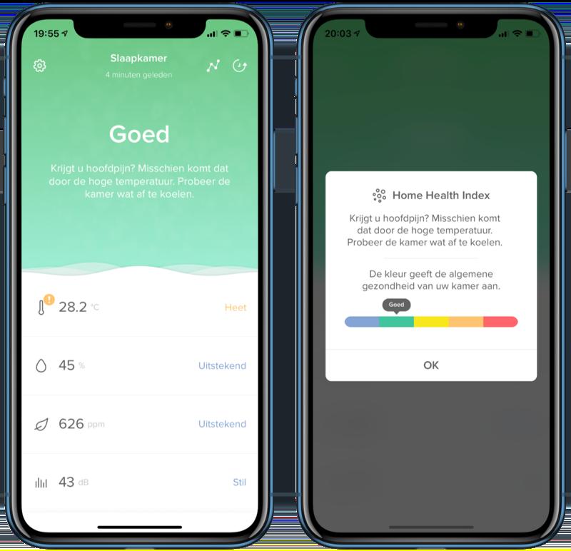Netatmo Healthy Home Coach app.