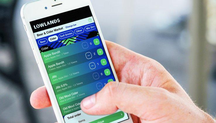 Lowlands app mobile order
