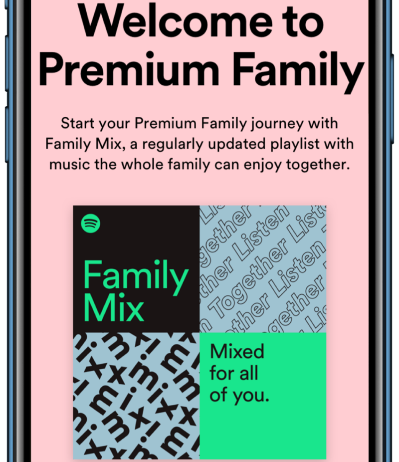 Spotify Family Mix.