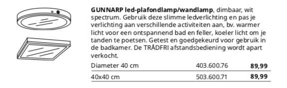 IKEA Gunnarp prijzen