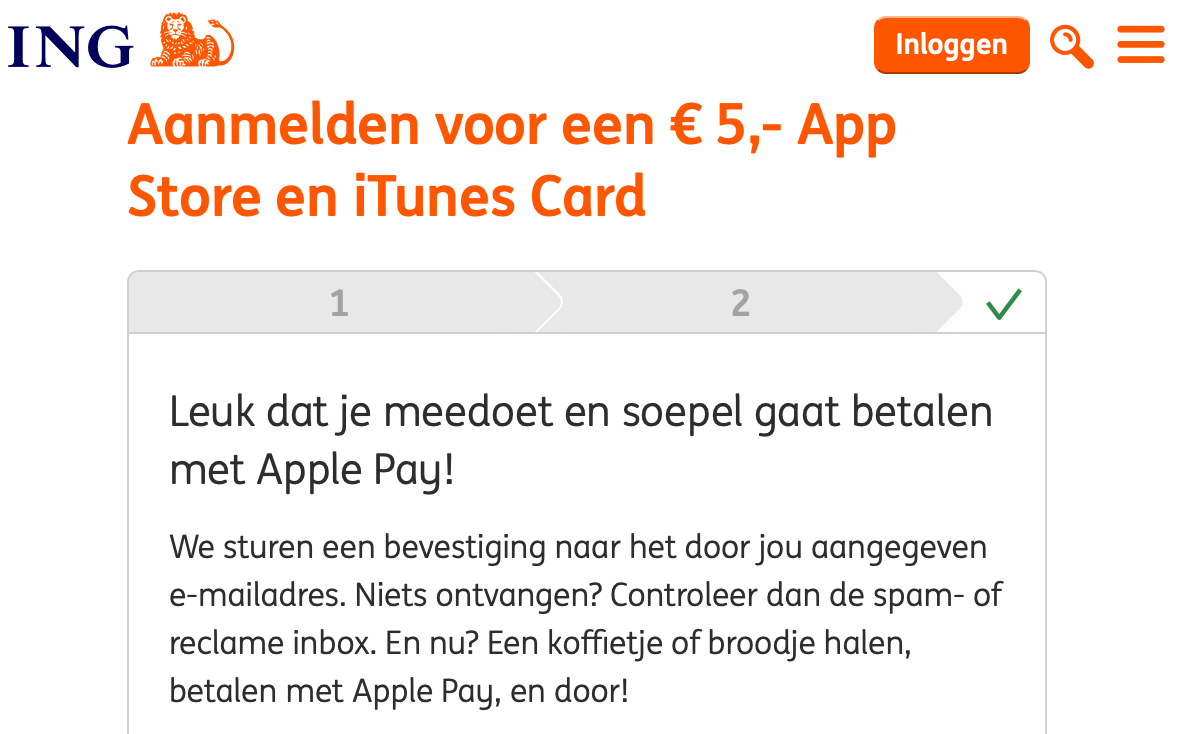 5 euro iTunes tegoed bij Apple Pay