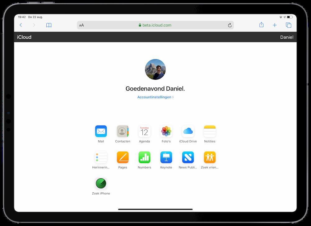 Beta van iCloud op iPad met iPadOS 13
