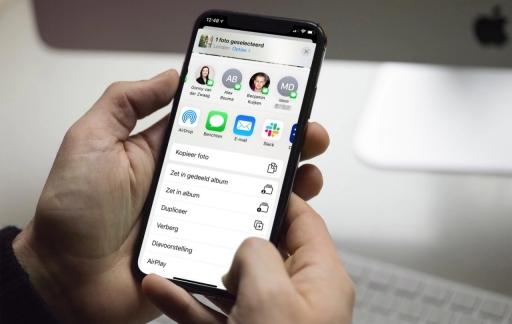iOS 13 deelmenu.