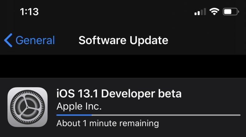 iOS 13.1 installeren