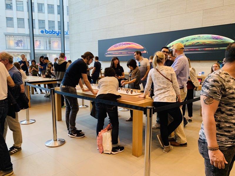 Apple Store met Watch-sectie
