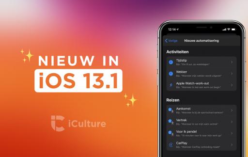 iOS 13.1 functies.