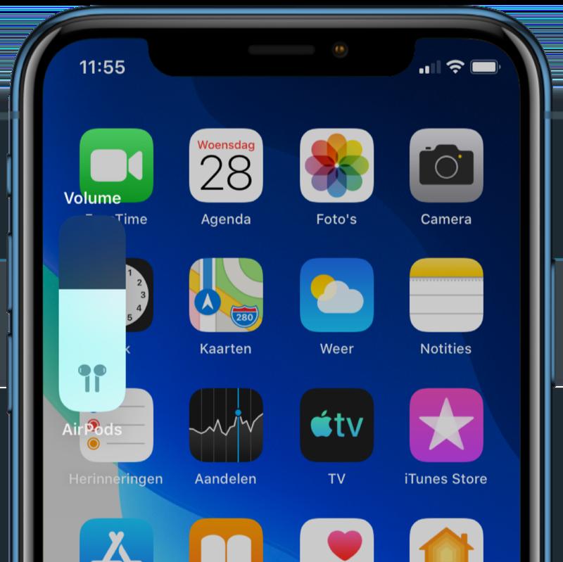 iOS 13.1 volumemelding.