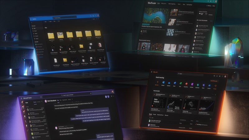 Microsoft dark mode