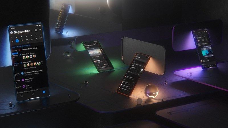 Microsoft dark mode voor smartphone