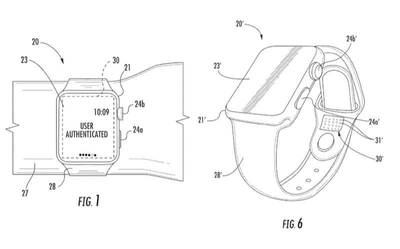 Apple Watch Wrist ID patent met polsherkenning.
