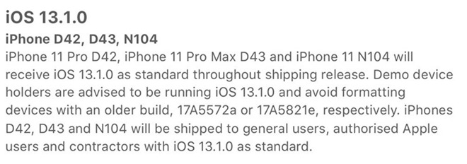 iPhone 11 Pro Max document gelekt