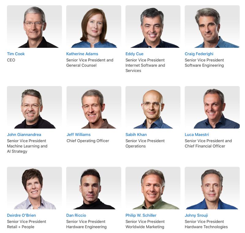 Apple directie 2019