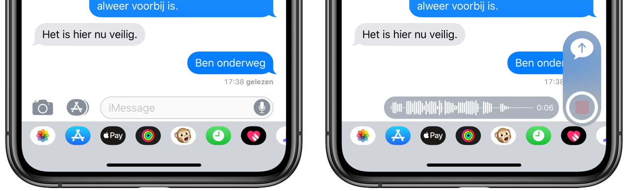 iMessage audiobericht inspreken