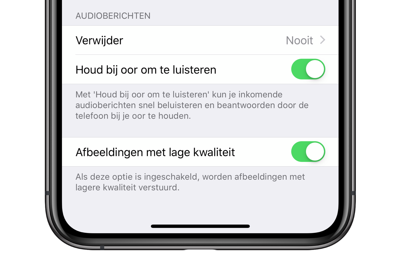 iMessage audioberichten automatisch