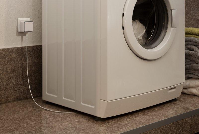 Eve Waterguard aangesloten op wasmachine