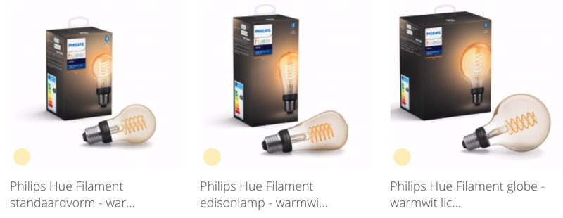 Philips Hue Filament assortiment