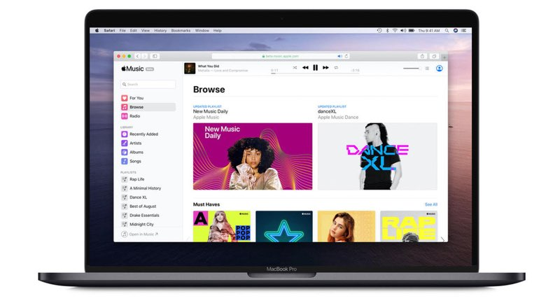 Apple Music voor web