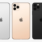 iPhone 2019 met logo in centrum