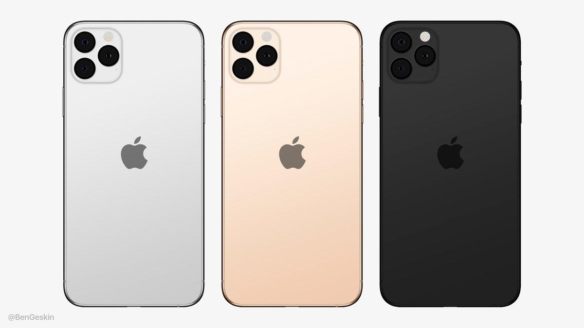 iPhone 2019 met logo in centrum