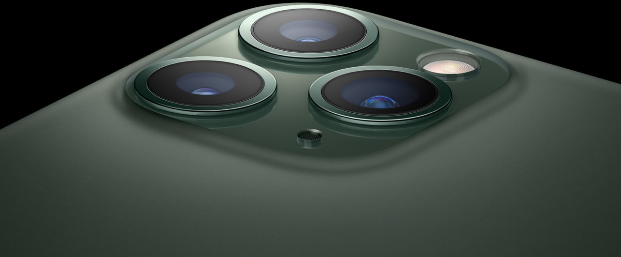 iPhone 11 Pro camerasysteem groen