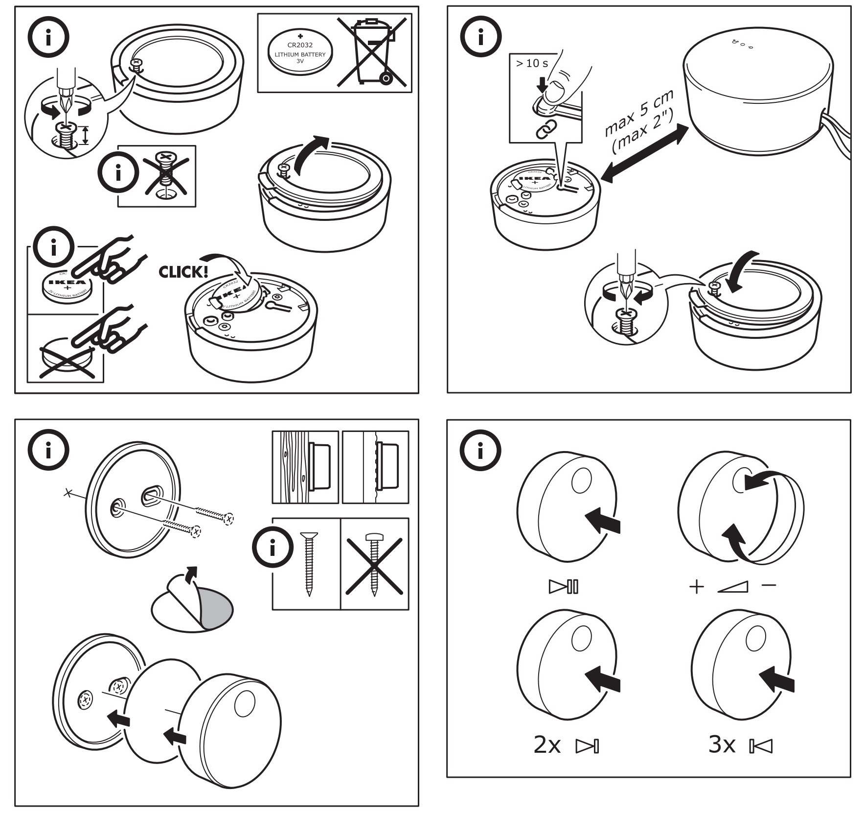 IKEA Symfonisk afstandbediening handleiding