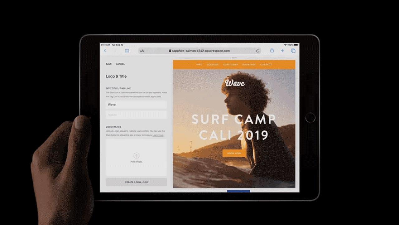 iPad 2019 in het donker