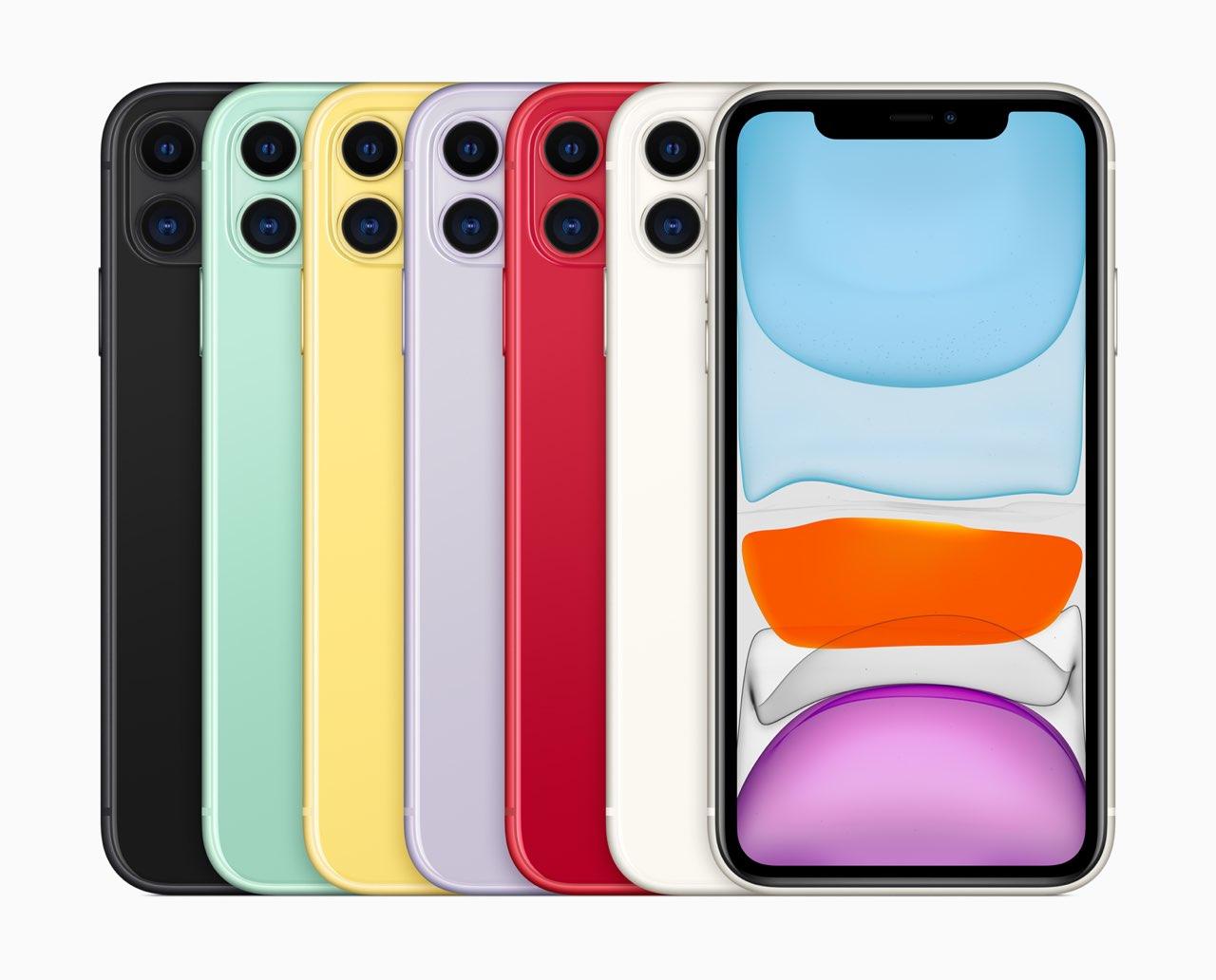 iPhone 11 kleuren familie