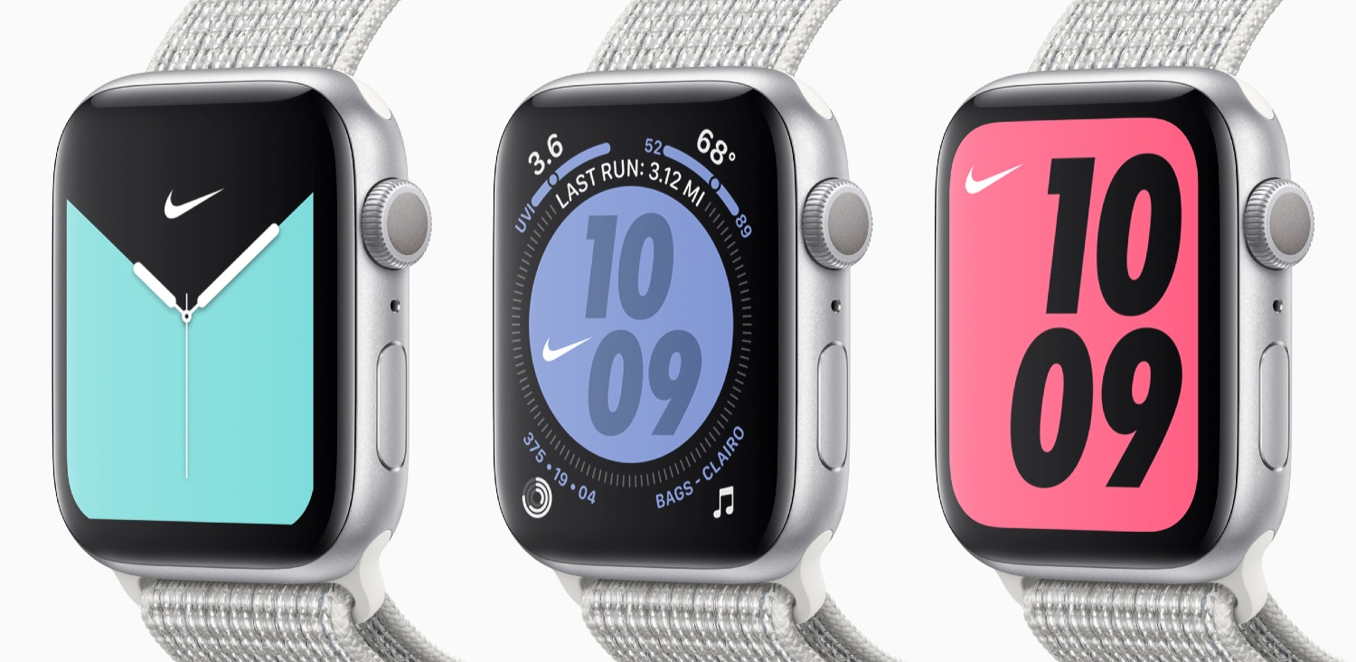 Apple Watch Series 5 Nike+ formaten