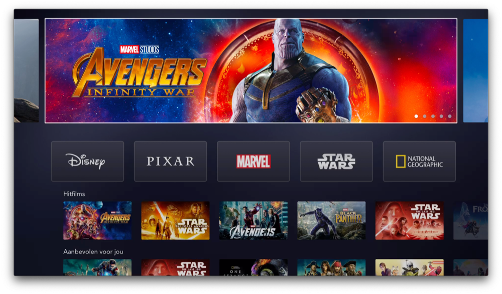 Disney Plus Apple TV app.