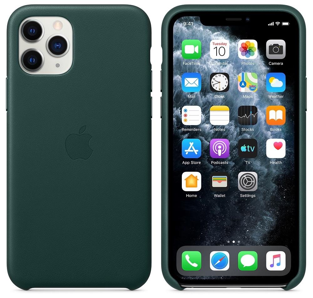 iPhone 11 Pro leren hoesje groen.