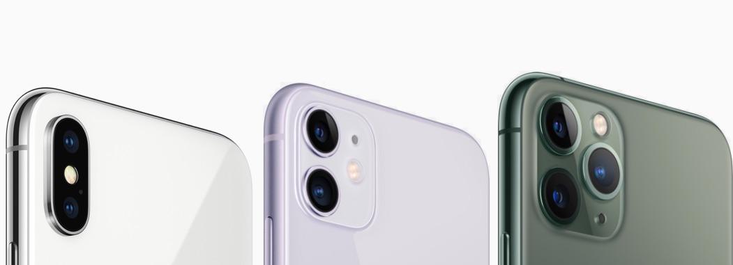 iPhone X vs iPhone 11 Pro camera's.
