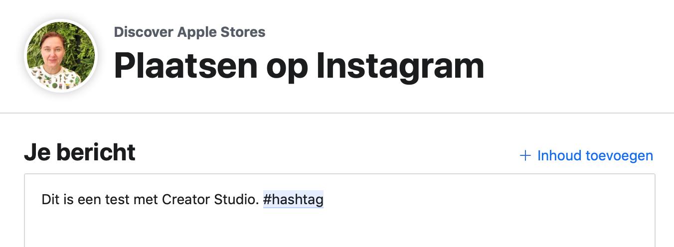 Instagram-bericht inplannen