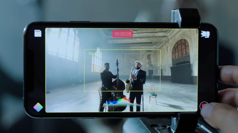 Filmic Pro twee camera's tegelijk gebruiken.