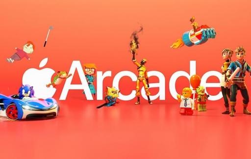 Apple Arcade logo oranje.