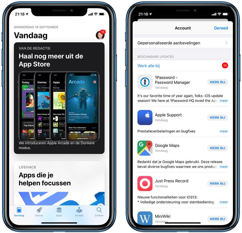 App Store apps updaten in iOS 13.