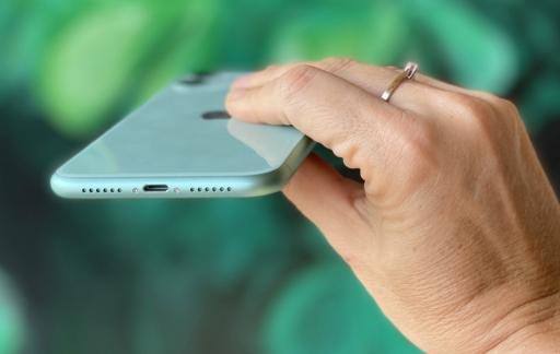 iPhone 11 groen onderkant.
