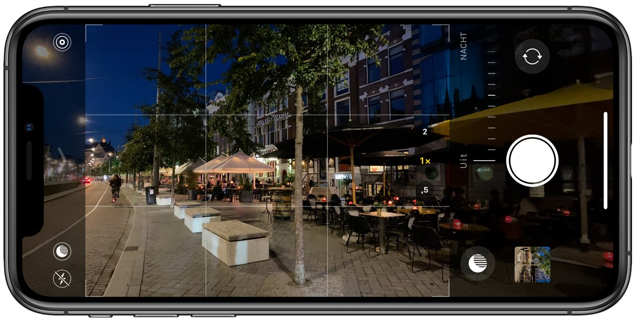 iPhone-camera nachtmodus uit