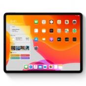 iPadOS 13 beginscherm met widgets.