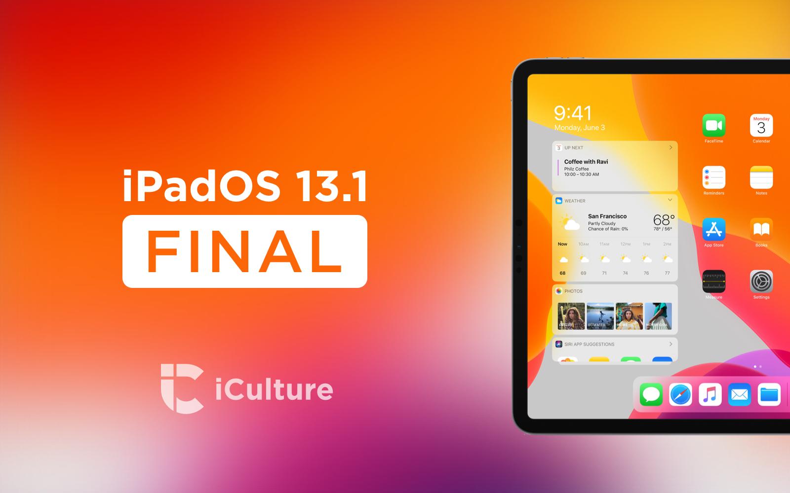iPadOS 13.1 Final.