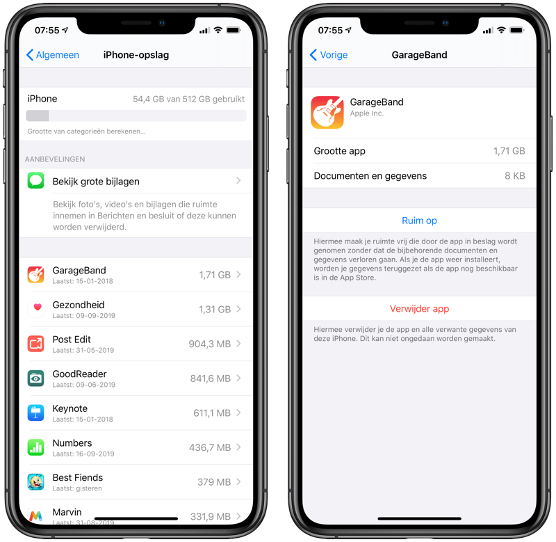 Apps verwijderen via Instellingen