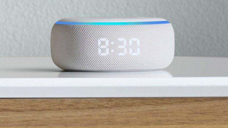 Echo Dot met klok