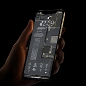 iFixit Wallpaper iPhone 11 Pro met binnenkant.