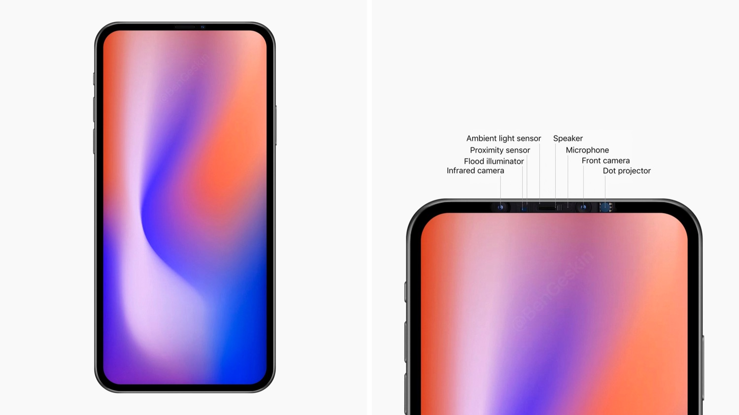 Prototype 2020 iPhone zonder notch.