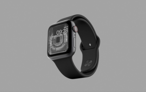 Apple Watch röntgenfoto als wijzerplaat van iFixit.