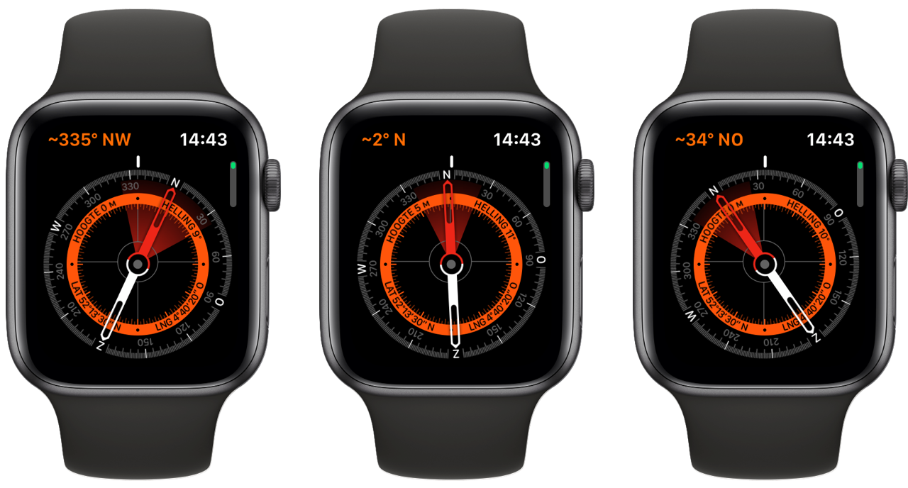 Apple Watch Kompas: locatie aflezen