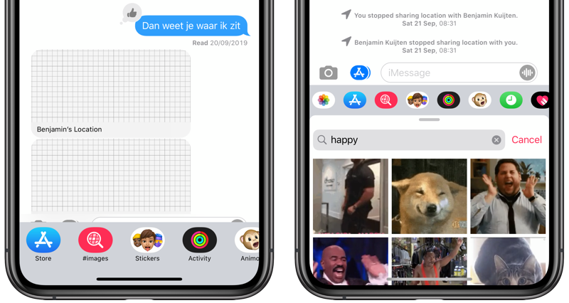 Gifs in iMessage