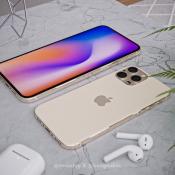 iPhone 2020 design renders in goud.
